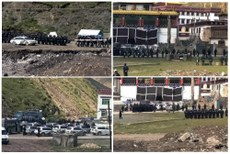 图片:2012年9月1日中共军警闯入玉树州称多县赛康寺场景。(受访人早前提供)