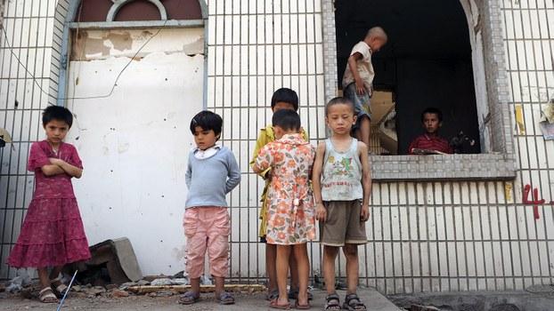 新疆近50万穆斯林儿童被迫与家人分离。(资料图/法新社)