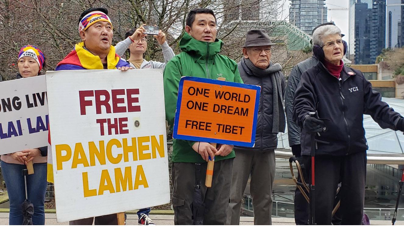 温哥华举行西藏抗暴61周年纪念活动。(记者柳飞拍摄)
