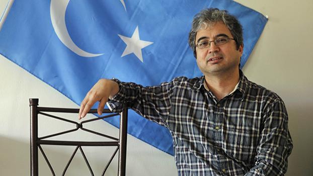 """""""美国维吾尔人协会""""主席伊利夏提.哈桑 (Ilshat Hassan) (美联社)"""