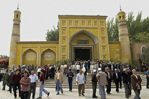 新疆的一个清真寺。(法新社)