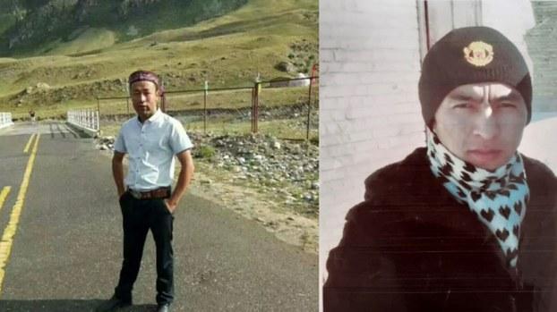 左图:新疆穆斯林伊玛目腊吾尔孜拜被判刑23年。右图:霍安拜克被判刑14年。(家属提供/记者乔龙)。