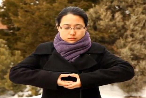 图片:曾在麦克马斯特大学孔子学院任教的赵女士(记者锡红提供)