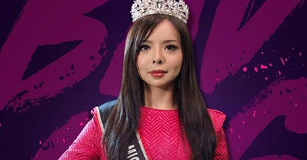 加拿大世界小姐林耶凡纪录片《选美皇后》海报。(脸书/Badass Beauty Queen: The Story of Anastasia Lin @BadassBeautyQueen)