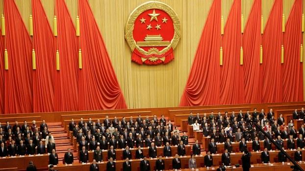 资料图片:2019年3月15日,北京人民大会堂举行十三届全国人大二次会议闭幕会。(路透社)