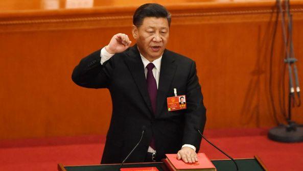 2018年3月17日中国国家主席习近平宣誓就职。(AFP)