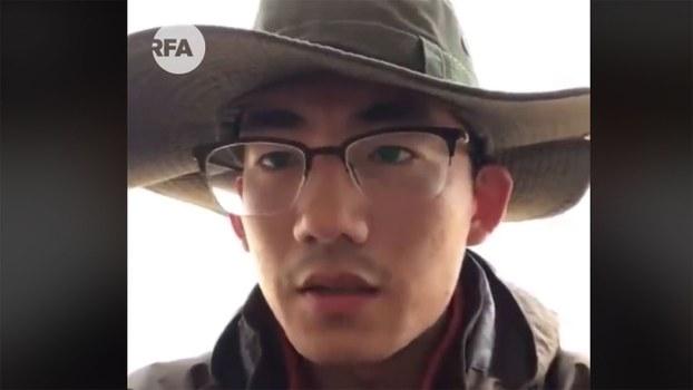山东大学生张文斌。(视频截图)