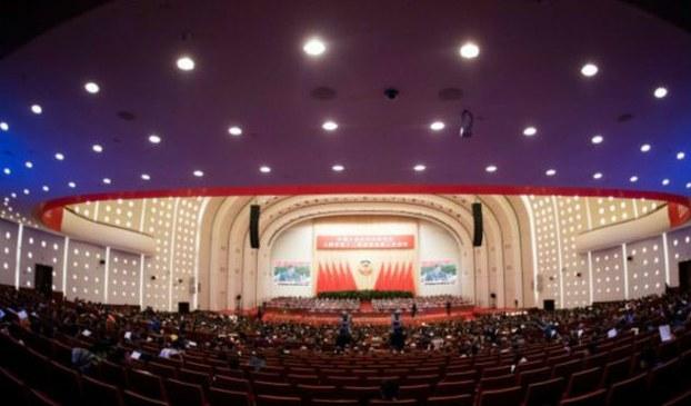 """资料图片:中国""""两会""""现场。(AFP)"""