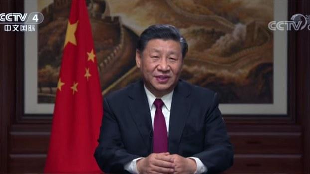 习近平发表2020年新年贺词。( 视频截图/CCTV中文国际)