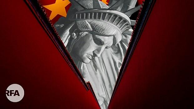 中国批美式民主衰败 果真如此吗?(自由亚洲电台制图)