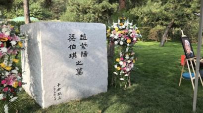 赵紫阳及夫人之墓(视频截图)