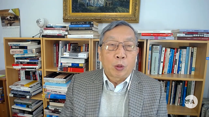 《北京之春》杂志荣誉主编胡平(视频截图)