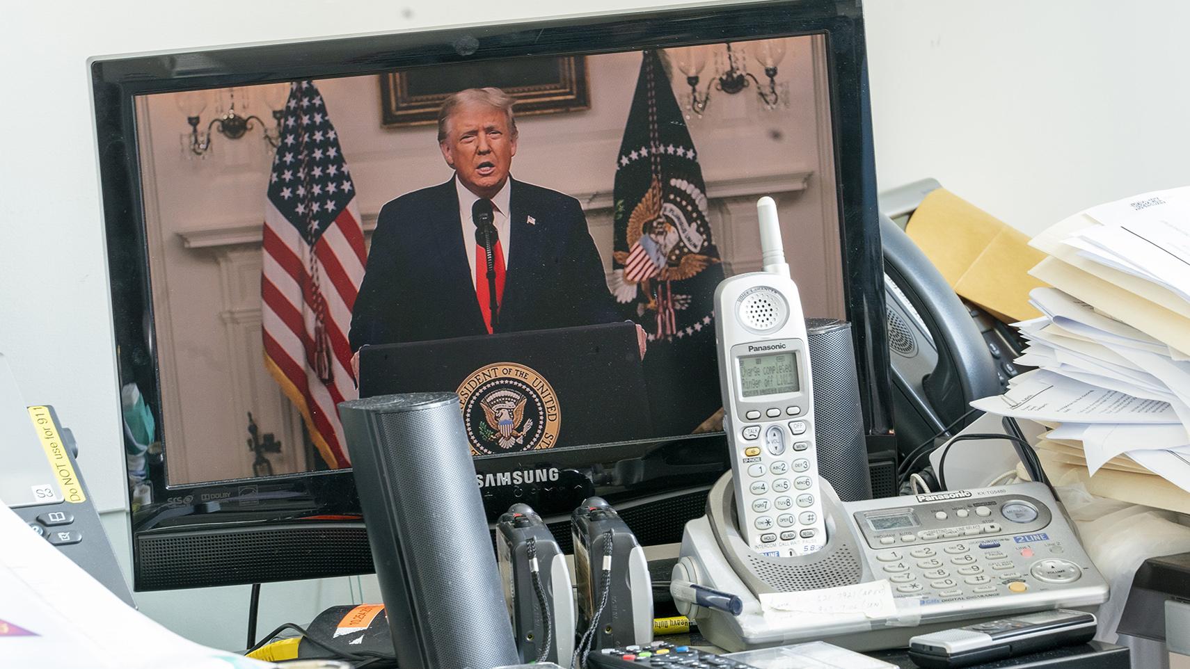 2020年9月22日,美国总统特朗普在联合国大会上发表视频演讲。(美联社)