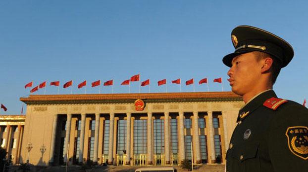 人民大会堂前(资料图/AFP)