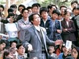 1989年包遵信先生在北大演讲(博讯网/照片由俞梅荪提供)