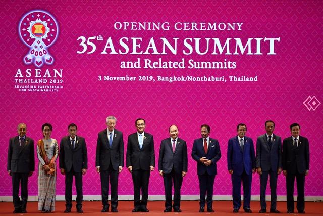 第35届东盟高峰会(ASEAN Summit)聚焦RCEP和南海议题。 (法新社)