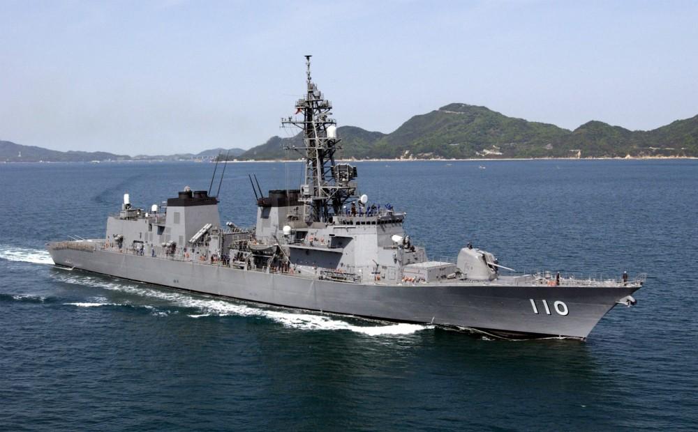 日本海上自卫队2月2日将派遣新型导弹驱逐舰高波号到中东执行情报搜集任务。(JMSDF)