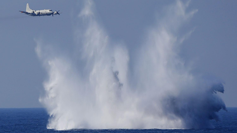 日本海上自卫队P-3C反潜巡逻机,到中东附近海域执行情报搜集任务。(美联社)