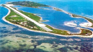 外传中国8月准备展开夺取台湾东沙岛两栖登陆演练。图为东沙岛(台湾海巡署)