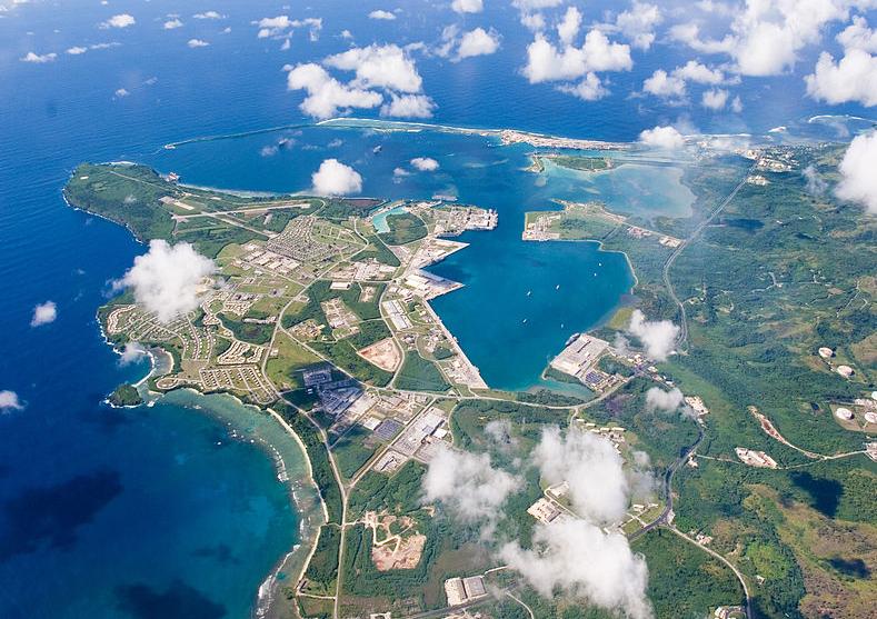 图为美国关岛基地。解放军前出西太平洋演练以关岛为目标。(U.S. Navy)