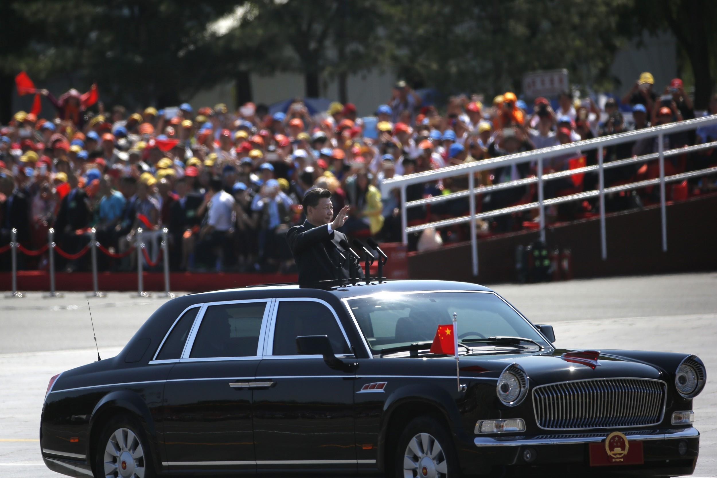 2015年的中国军演中的中国国家主席习近平。(美联社)