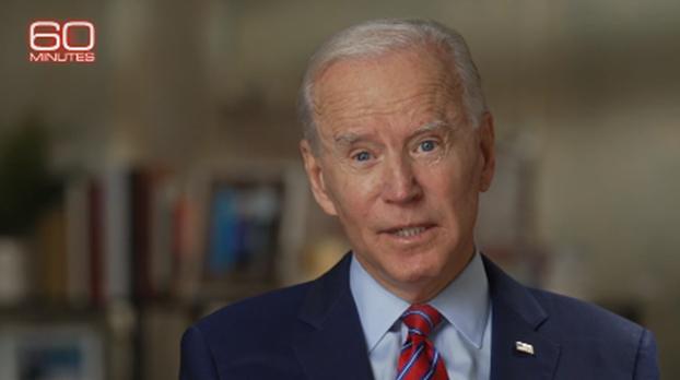 拜登(Joseph Biden)说,目前美国面临最大威胁是俄罗斯,最大竞争对手是中国。(视频截图)