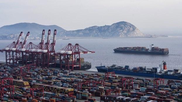 中国沿海是全球船舶大气污染最严重的地区,上海尤其是重灾区。(美联社)