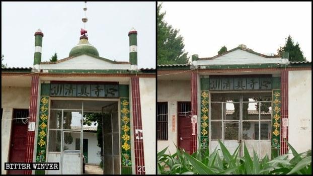 河南驻马店一个清真寺被拆毁。(Public Domain/资料图片)