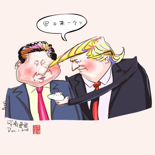 漫画家成涛的包子漫画。(成涛提供)