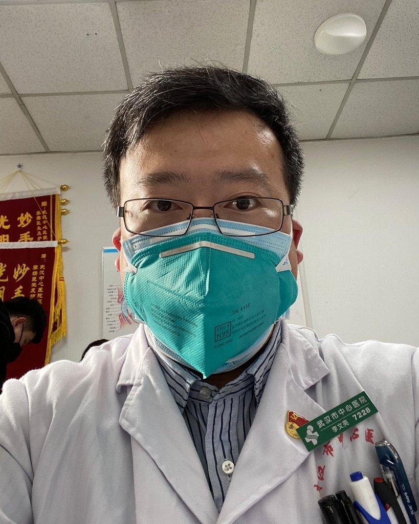 """新冠疫情""""吹哨人""""李文亮去世。(Public Domain)"""