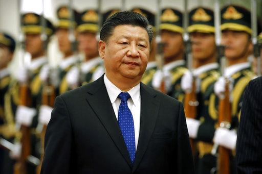 图片:2018年3月29日,中国领导人习近平在北京人民大会堂欢迎访华的纳米比亚总统(美联社)