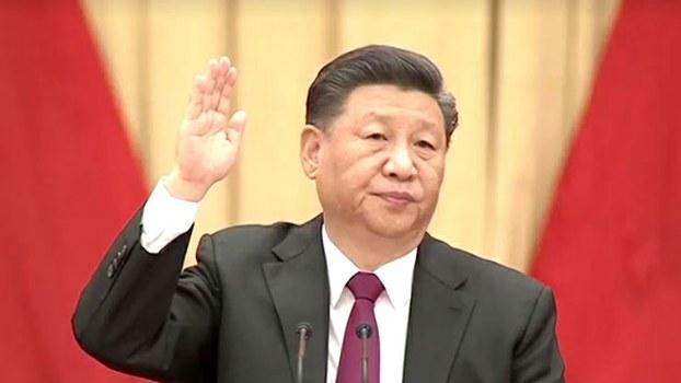 2019年10月31日,中国领导人习近平出席中共十九届中央委员会第四次会议。(视频截图/路透社)
