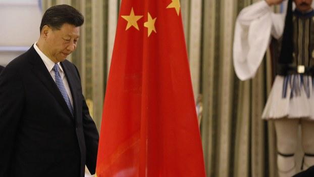 2019年11月11日,在四中全会之后不久,中国国家主席习近平出席外事活动。(美联社)