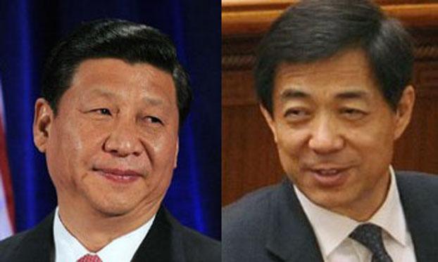 习近平和薄熙来。(AFP)
