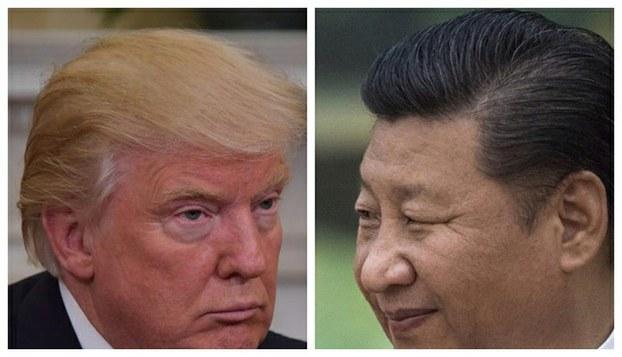 左图:川普;右图:习近平。(AFP)