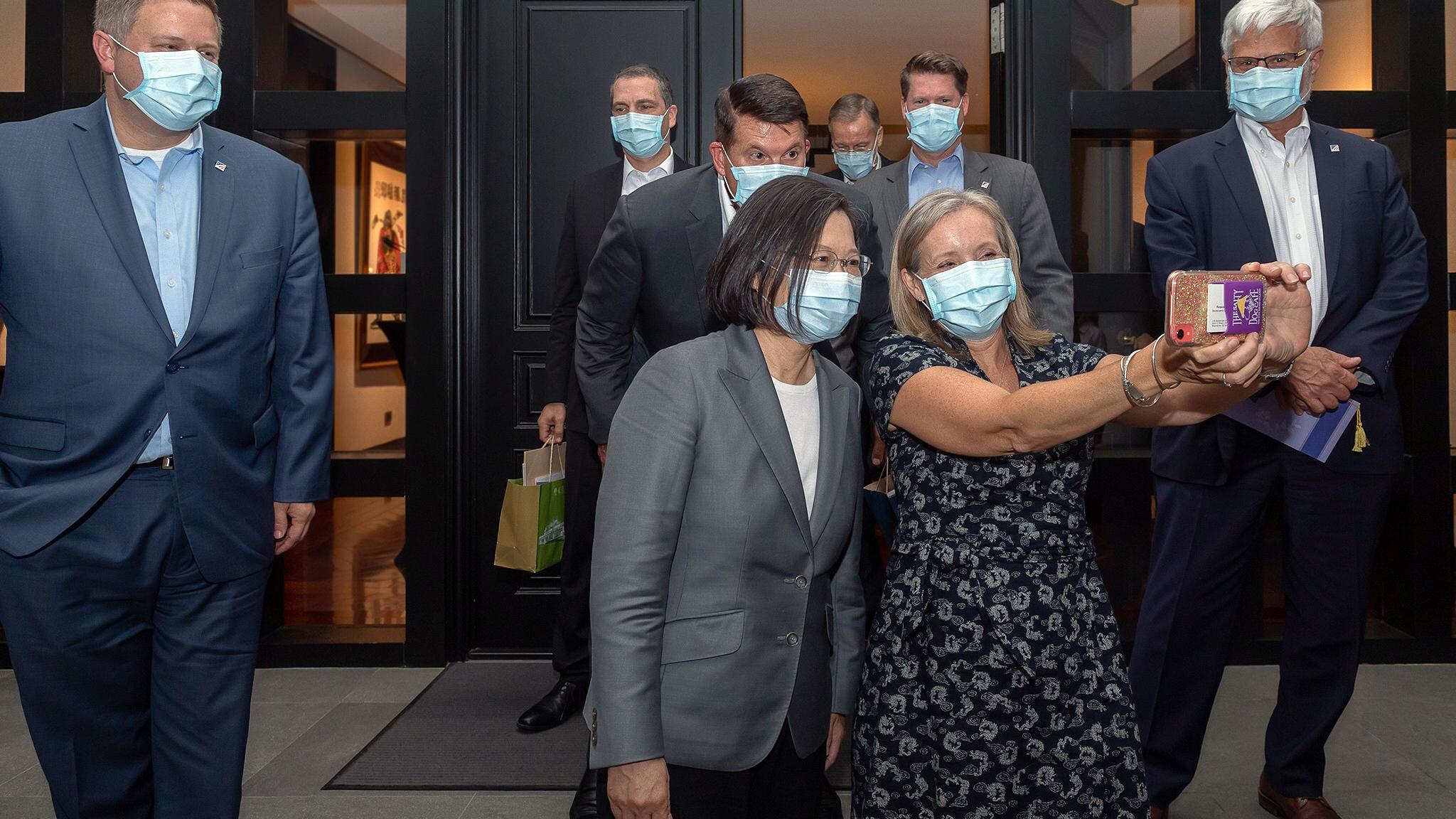 2020年9月18日,美国代表团访问台湾。(美联社)