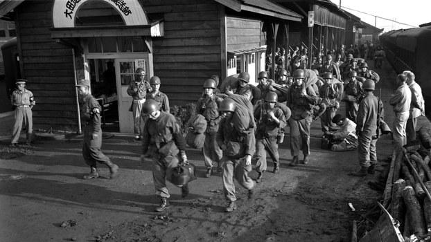1950年7月2日,美军史密斯特遣队抵达大田火车站。三天后,他们将以血肉之躯直面北韩坦克部队。(Public Domain)
